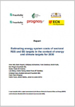 Estimating energy system costs of sectoral RES and EE targets in the context of energy and climate targets for 2030